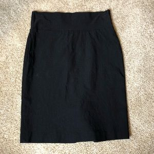 Flattering go to high waisted black pencil skirt